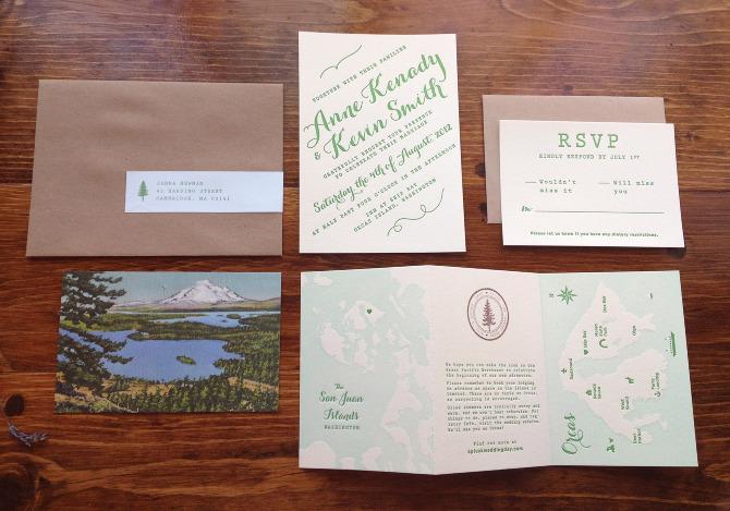 Wedding invitation suite anne kenady design stopboris Choice Image