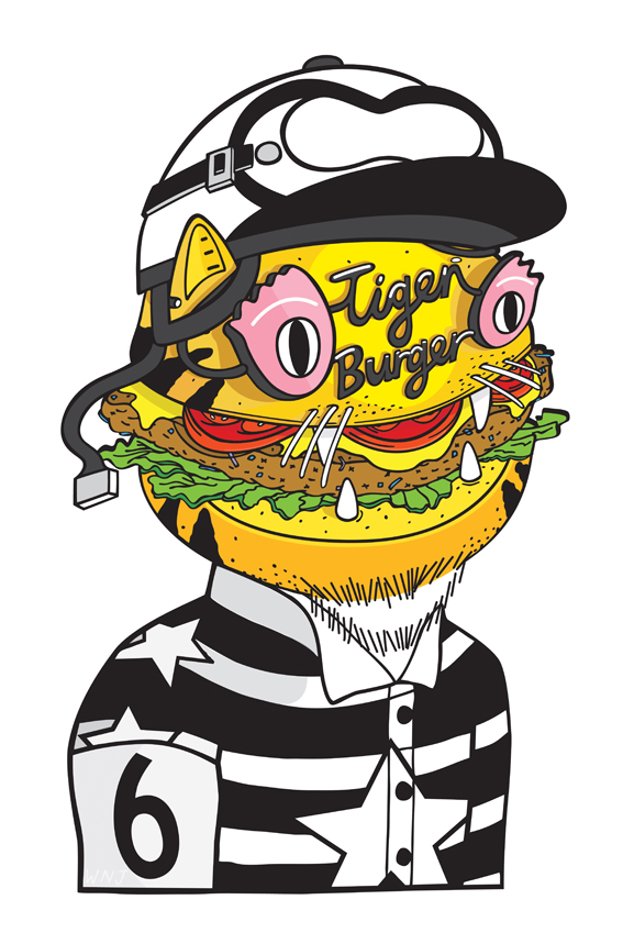 Tiger Burger hits the walls of Chicago\'s Threadless Store ...
