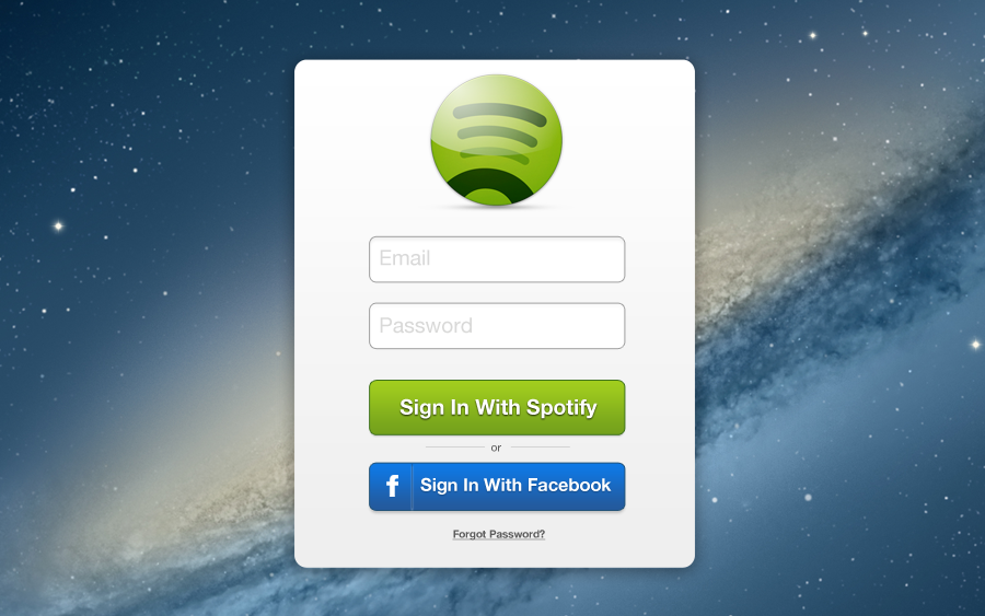 Redesign >> Spotify Login redesign - Justin Carson