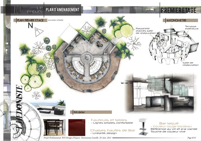 Mobilier Table Programme Bts Design D Espace